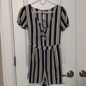 Cute Striped Hollister Romper